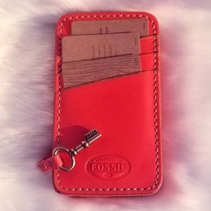 Light Pink Fossil Key Holder Wallet